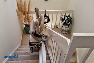 Photo: Bruno Elite Curved Stairlift | CRE-2110