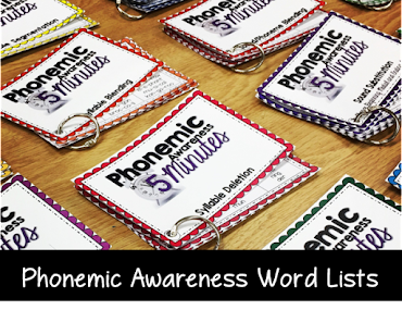 Word lists to use to teach phonemic awareness