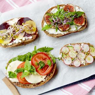 4 Fresh Veggies & Cheese Sandwiches