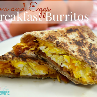 Bacon and Eggs Breakfast Burritos
