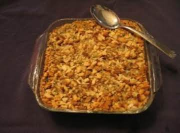 Aunt Judy's Chicken and Dressing Casserole