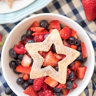 Berry Salsa and Cinnamon Chips.