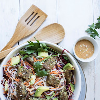 Soba Noodle Salad with Almond Lime Dressing