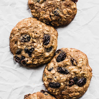 Soft Olive Oil Oatmeal Raisin Cookies.