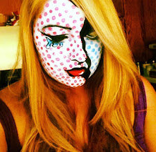 Photo: Comic face paint design by Tess Rancho Cucamonga, Ca. Call to Book Tess at 888-750-7024