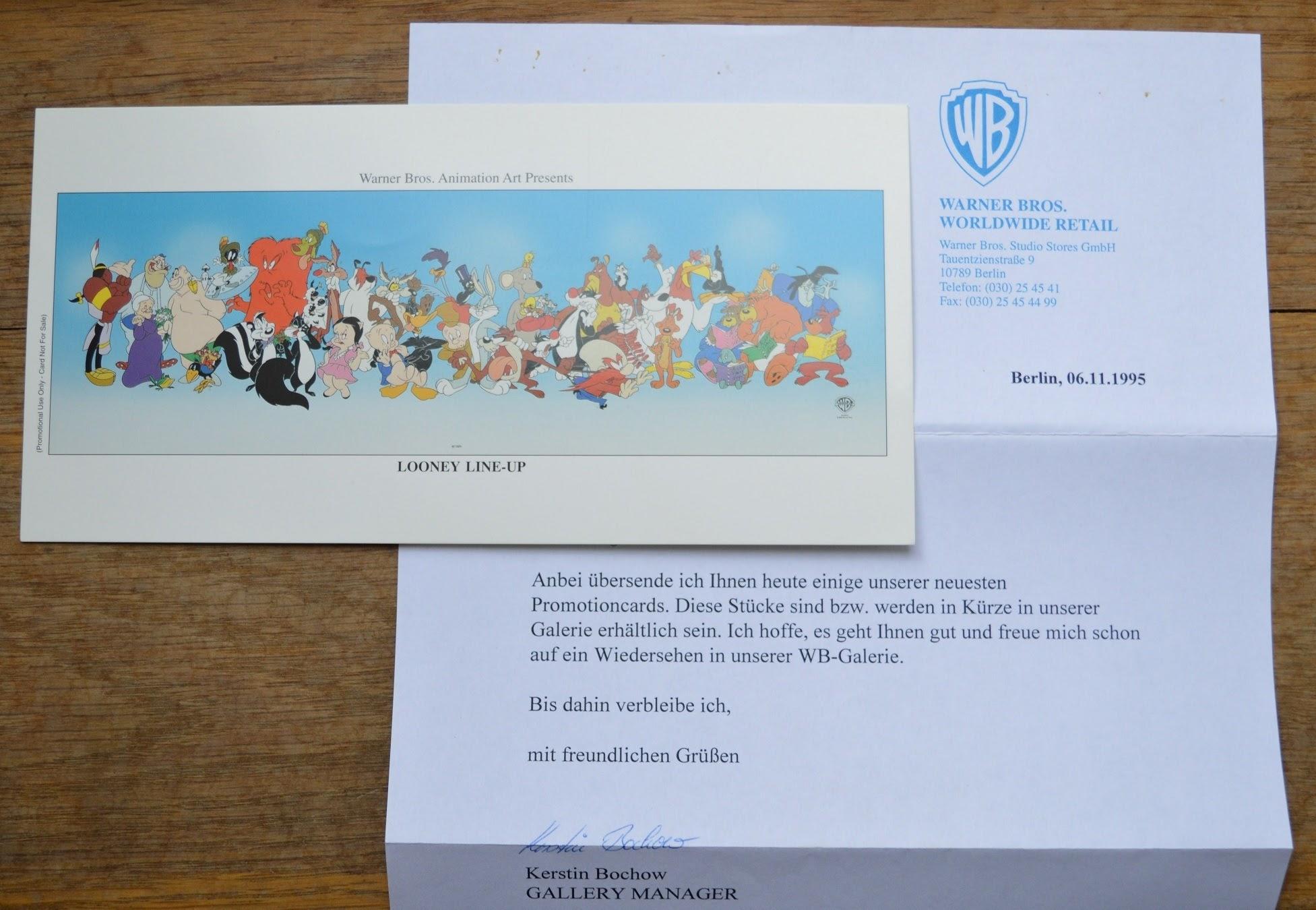 Warner Bros. Production Cel Sericel Promocard