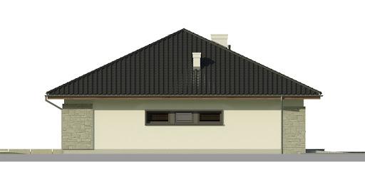 Dom przy Pastelowej bis - Elewacja lewa