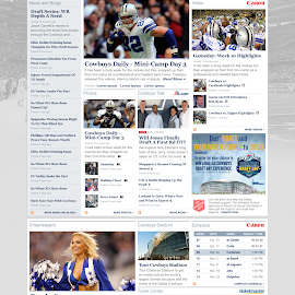 Cowboys homepage concept by Tobin Howard - Web & Apps Pages