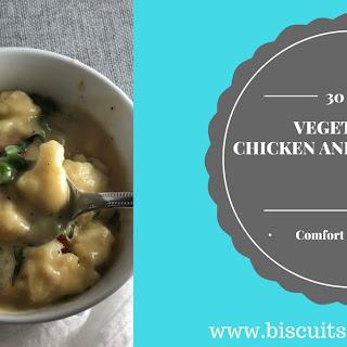Vegetarian Chicken and Dumplings.