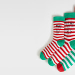 Matching 'Mini elf', 'Mama elf' and 'Papa elf' slogan Christmas socks