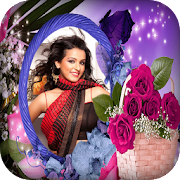 Rose Flower Photo Frames - magic love touch editor