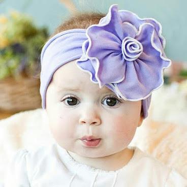 紫色大荷蓮粗頭帶 H079現貨包郵