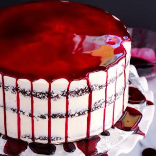 Red Wine Chocolate Naked Cake