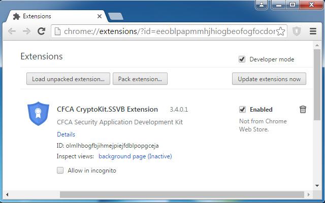CFCA CryptoKit.SSVB Extension
