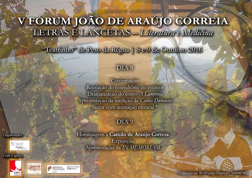 V Fórum João de Araújo Correia - Régua - 8 e 9 de Outubro 2016