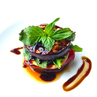 Grilled Balsamic Veggie Stack