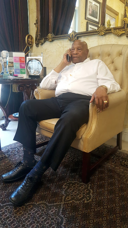 Dr Richard Maponya at his house in Johannesburg.