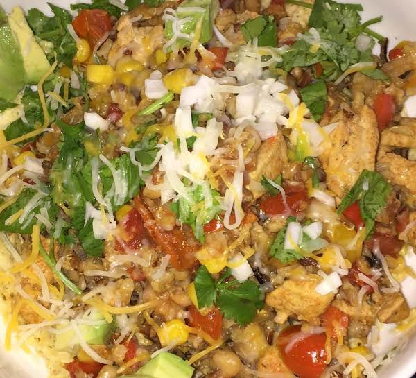 Chicken, Rice, Peppers With South-west Seasonings.