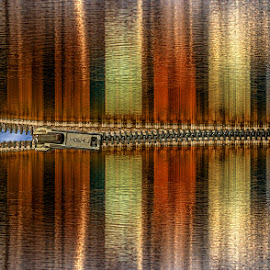 Unzip the Sky by Katherine Rynor - Digital Art Things ( abstract, zip, reflection, sky, surreal, colours )
