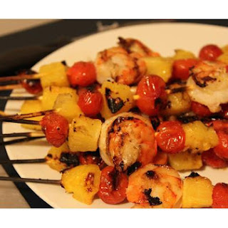 Shrimp, Pineapple and Bacon Skewers