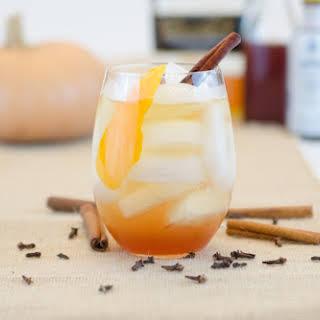 Pumpkin Spice Whiskey Spritzer.