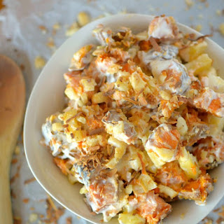 Creamy Tropical Sweet Potato Salad {Vegan, Paleo + Whole 30!}.
