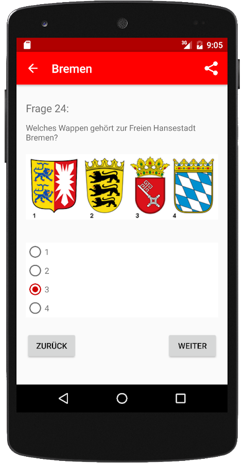Einbürgerungstest HB 2017 – Screenshot