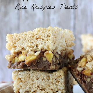 Apple Streusel Rice Krispie Treat