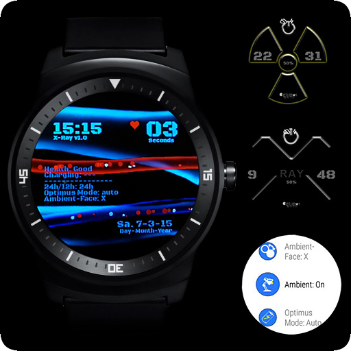 X-Ray Watchface Bones & Blood Apps for Android
