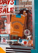 """Photo: """"Philip Morris, hyperréalisme """", 1976, acrylique sur toile."""