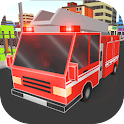 Cube Fire Truck: Firefighter icon