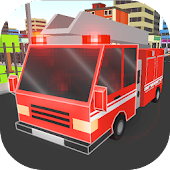 Cube Fire Truck: Firefighter