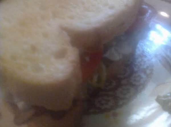 Italian Roast Beef Sammie W/peppers & Sour Cream Dressing Recipe