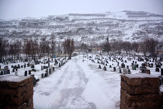Photo: Hammerfest was also leveled by the Nazis - and occupied by more than 100,000 troops.  The cemetary chapel was the only building left standing