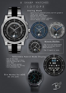 Isotope - Luxury HD watch face for smart watches Screenshot