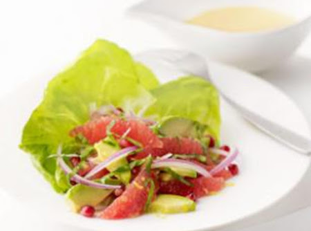 Pink Grapefruit & Avocado Salad Recipe