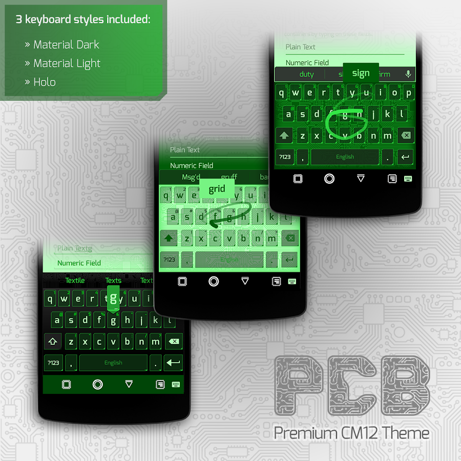 PCB Green ⁞ CM13 Theme- screenshot