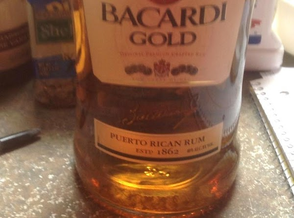 I chose to add Barcardi Gold Rum to enhance the flavor of the Brownies...