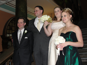 Photo: With best man Chris and best woman (formerly known as maid of honour), another Lisa