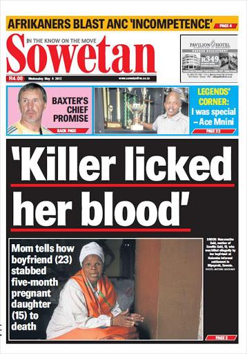 In Sowetan newspaper today..