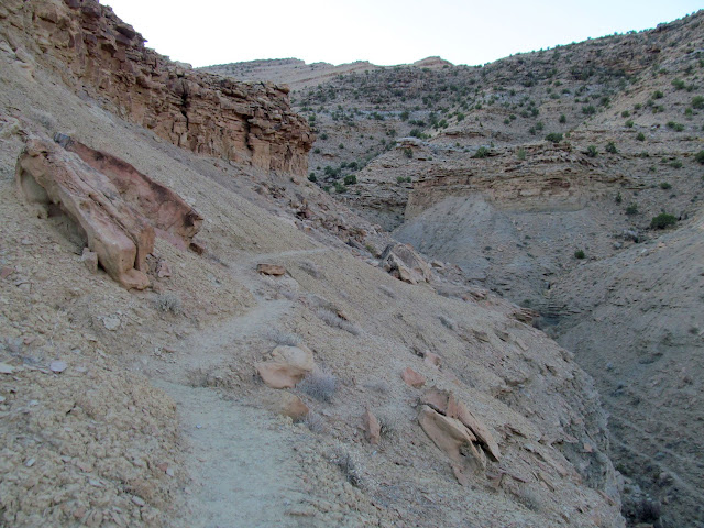 Trail between cliff bands