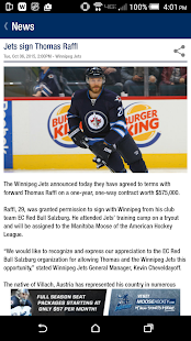 The Winnipeg Jets App- screenshot thumbnail