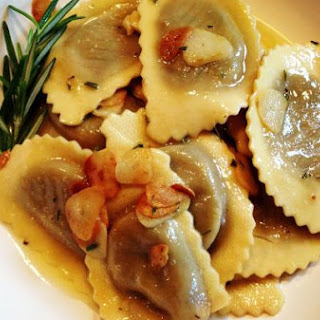 Wild Mushroom Agnolloti in a Rosemary Garlic Butter Sauce