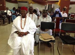 Photo: Representatives of His Majesty, Obi of Onitsha, Nnaemeka Achebe