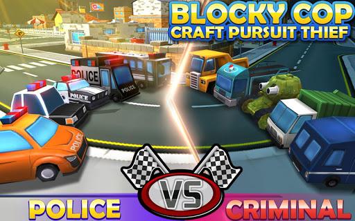 Blocky Cop Craft Pursuit Thief