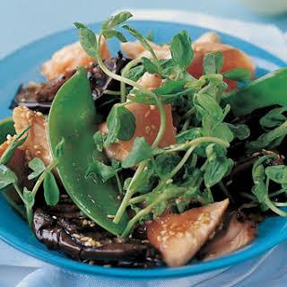 Miso Salmon With Eggplant.