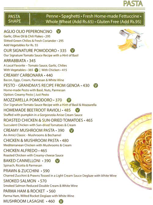 Amici Cafe menu 4
