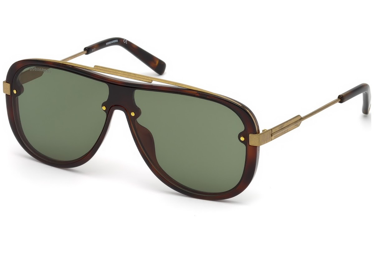 c09da8bbd59 Buy Dsquared2 Noah DQ0271 C00 52N (dark havana   green) Sunglasses ...