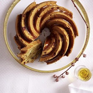 Marbled Bundt Cake with Orange Liqueur and Roasted Almonds