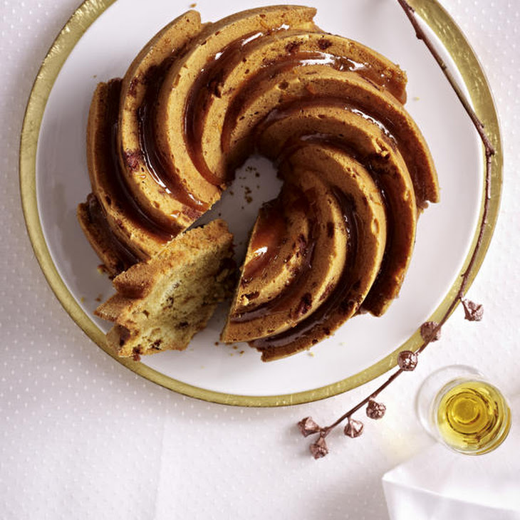 Marbled Bundt Cake with Orange Liqueur and Roasted Almonds Recipe